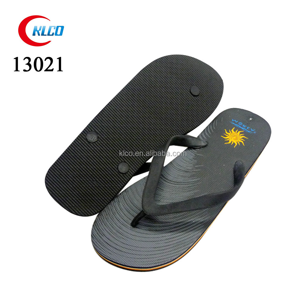 2015 cheap new summer mens fashion black PE flip flops
