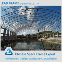Safe and reliable steel structure building for swimming pool roof