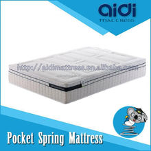 High Ending Pocket Spring 100% Natural Latex Rubber Foam Adult Size Car Bed Mattress