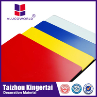 Alucoworld decorative plastic brick wall acp Aluminum Composite Panel fireproof acp walls panels
