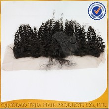 Wholesale cheap afro kinky curly virgin brazilian remy lace front closure with baby hair