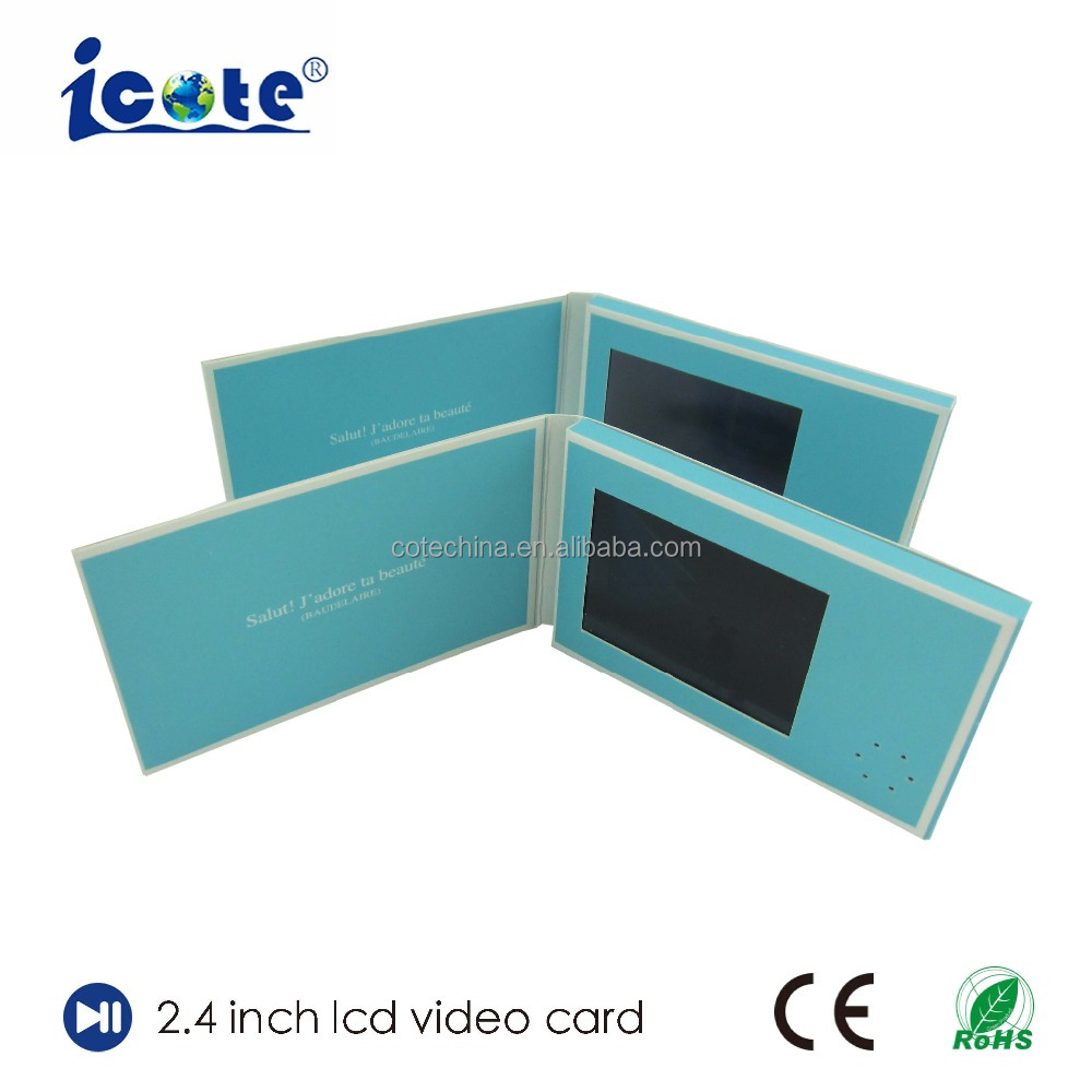 Lcd Video Greeting Cardmusic Chipvideo Card 24 Inch Buy Custom