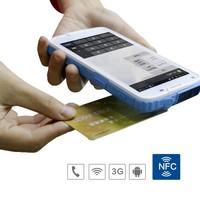 Cilico Quad Core Android PDA NFC mobile phone with 1D 2D barcode scanner, HF UHF RFID reader writer