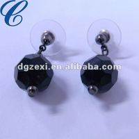 2012 graceful shamballa earring-black studs earrings