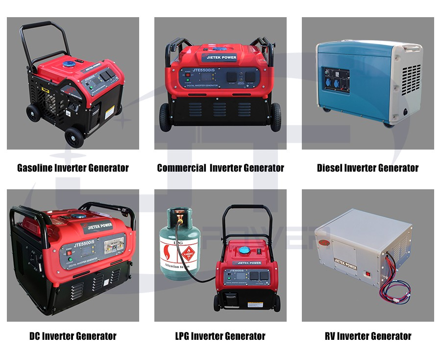 JTE8000iS 7.5KW fme digital inverter generator portable with 4 wheels