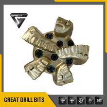 API 5 blades alloy Steel BODY pdc drill bit and drilling tools for water well