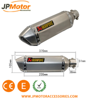 JPM titanium motorcycle exhaust muffler for motorcycle engine 400cc
