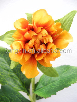 27cm height short stem artificial zinnia flowers 27986PN