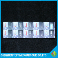 250g 10 in 1 recharge scratch card for mobile phones