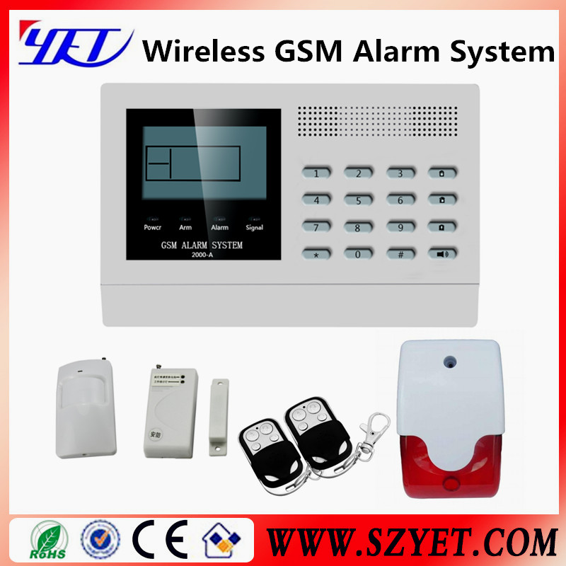 PSTN GSM dual networks wireless 99 zone burglar system 3g gsm video camera security alarm