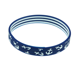 Printing Logo Healthy Jewelry Thin Silicone Energy Bracelet Men no Minimum