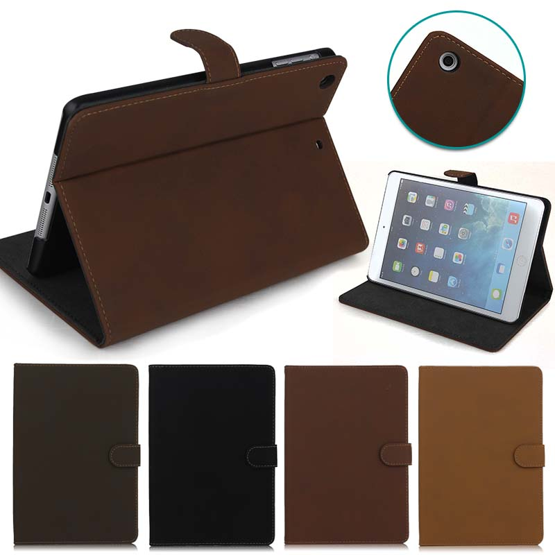 Retro Design business style Leather Case for ipad mini 1 2 3, for ipad mini 1 2 3 stand case