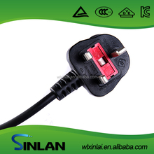 low voltage uk power plug with fused for household appliances