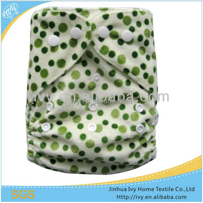 washable reusable baby nappy dots designs cloth diaper