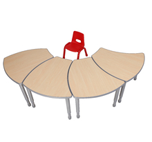 Height adjustable transformative kindergarten furniture kids table and chair