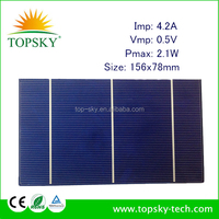 low price Customized size 156x78 MM 0.5V 2.1W PV broken solar cell with low price many pieces in stock
