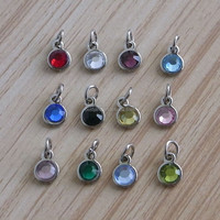 metal stamping jewelry ornaments tags for bags, bling crystal tags for zipper charms