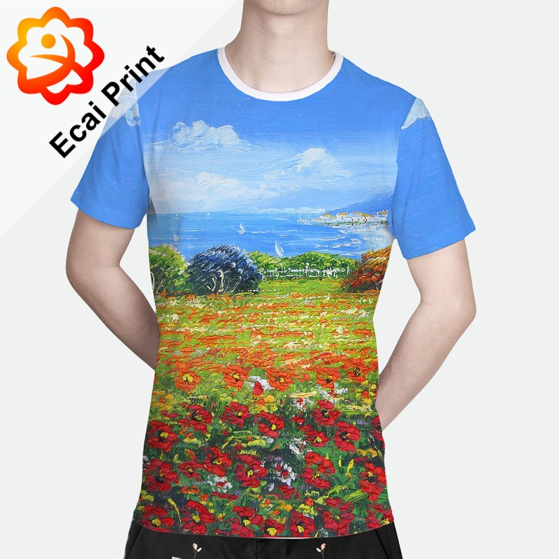 Hot sell sublimation custom design digital printing tee Custom t shirt digital printing