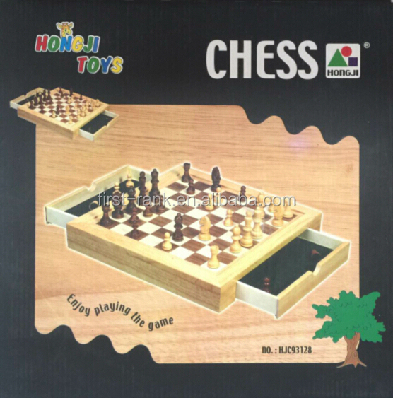 Hot sales board game with wooden chess for children and adults