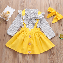 Amazon new <strong>girl's</strong> little big bow top strap skirt set cotton beautiful baby girls <strong>dresses</strong>