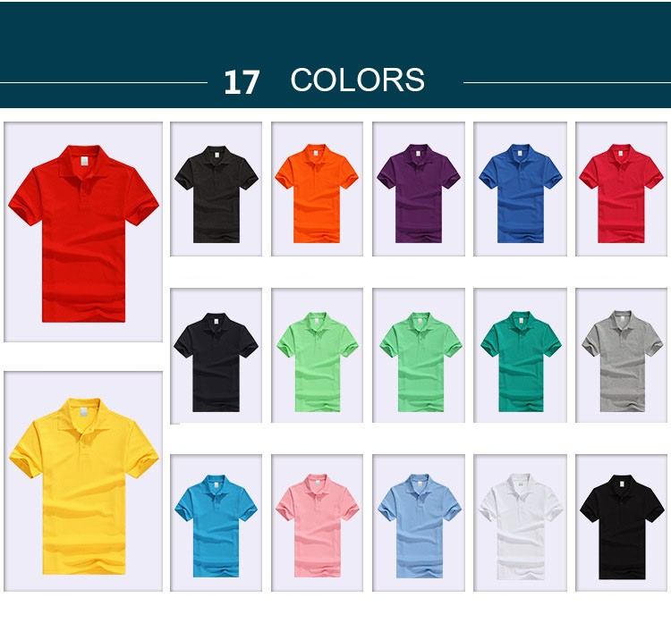 Work clothes Polo shirt customized your own private embroidery logo cotton solid color polo shirt