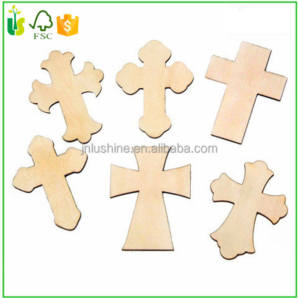 Unfinished Blank Wood Cross Handmade DIY Craft