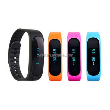 CW-E02 Cheapest Colorful LED Wireless Smart Bracelet