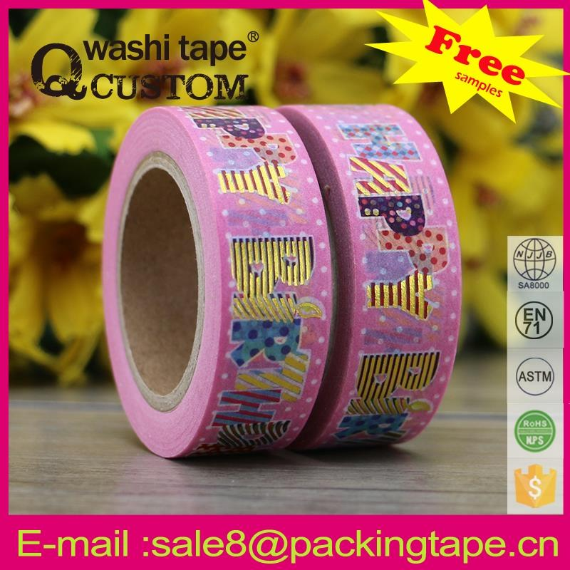 Decorative colorful vinyl tape in any colors