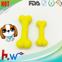 High Quality Edible Silicone Rubber Dog Bone Shaped Pet Teething Toy
