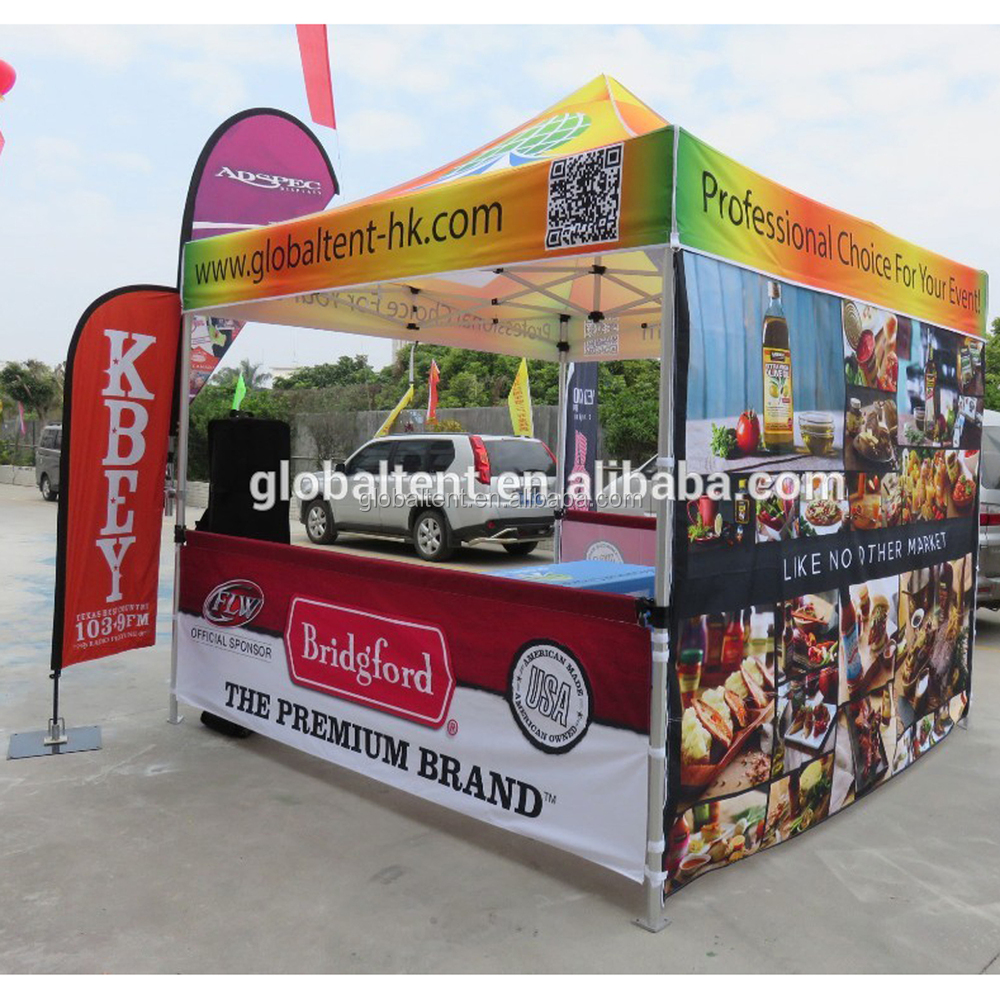 Customized Printed pop up promotion zelt with replaceable canopy outdoor function tents