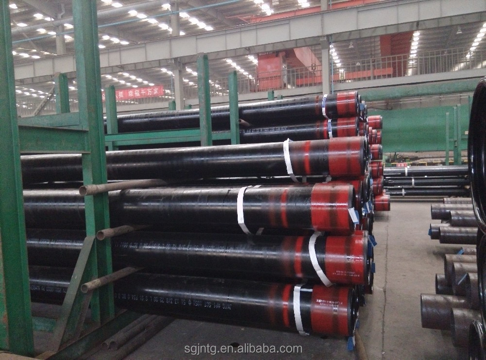 API N80 oilfield supply seamless steel round hot rolled casing pipe