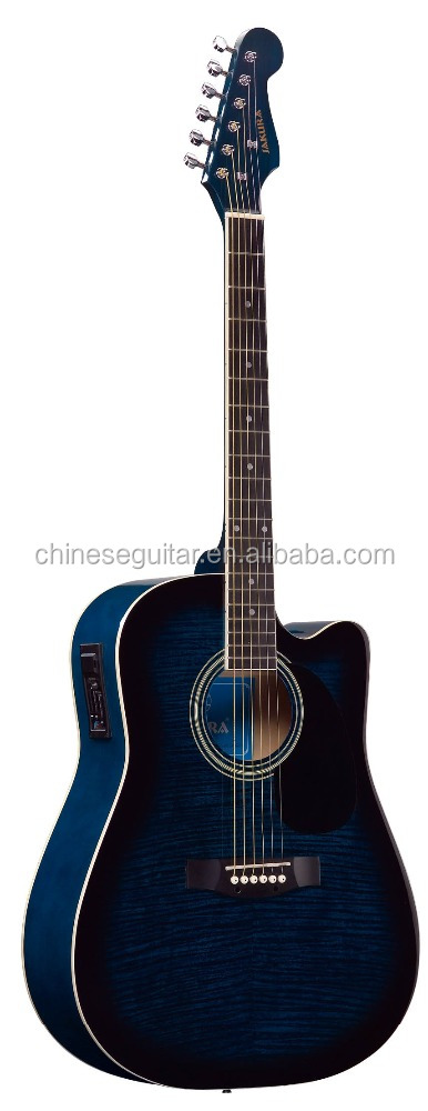 "41""inch Flame maple acoustic guitar/Linden laminate / Fener acoustic guitar BFG-4116C/EQ3"
