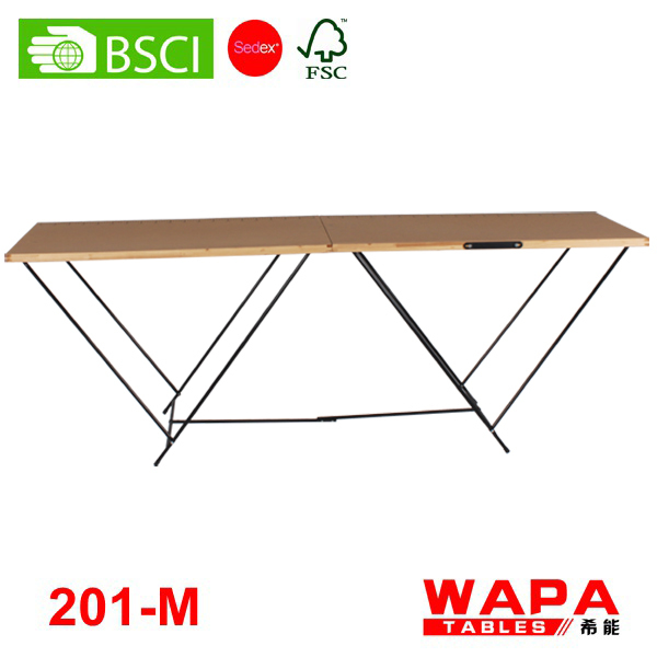 3 Sections (3m) Aluminum big wallpaper folding table