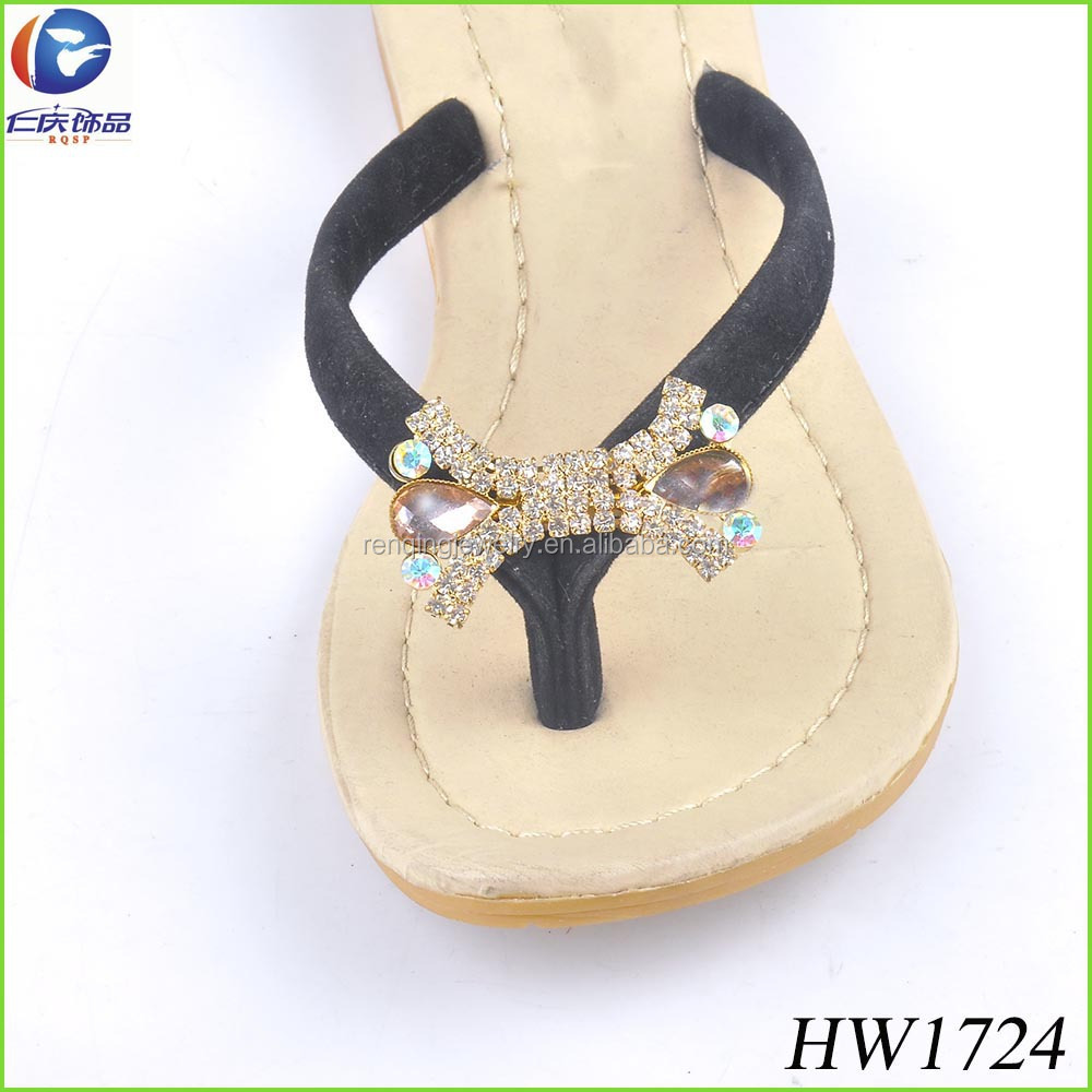 The mini crystal rhinestone flip flops clips shoe direct clips for sandal