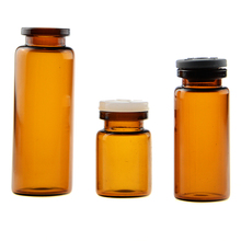 Amber vials 10ml pharmaceutical vial medical injection glass vials with rubber