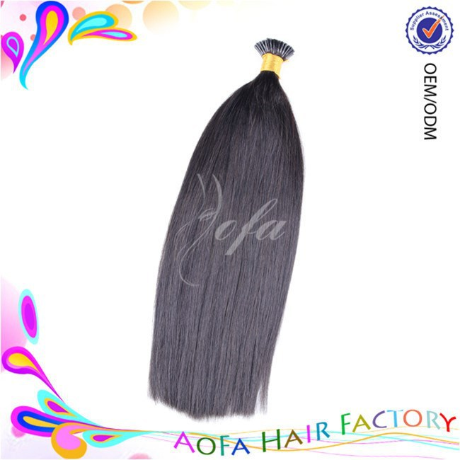 Large intock 7A grade 100% raw indian i-tip hair extension