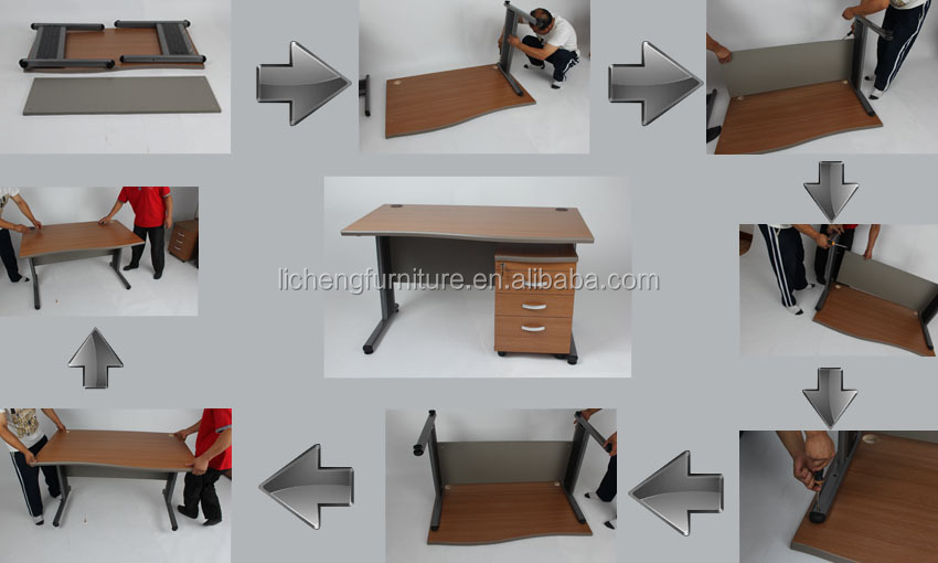 wooden office desk simple. Simple Wood Office Desk With Metal Legs/office Table Wooden S