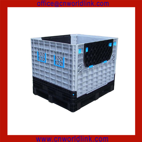 Heavy Duty Plastic Forklift Warehouse Collapsible Box