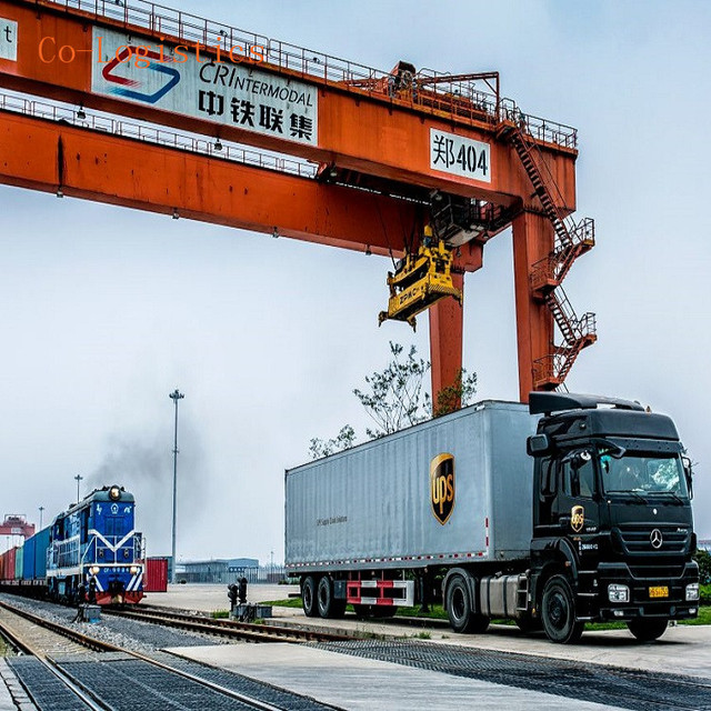 Door to delivery by train faster then sea freight rates from Shenzhen to UK