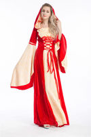 Hot walson China instyles 2015 disfraz clothes s Medieval Renaissance red Gold Gown Dress Costumeerotic lingerie disfraz clot