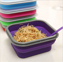 Food grade material airtight and leak proof with small spoon warmer silicone food container