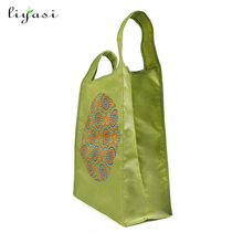 Supermarket Use High Quality Waterproof Polyester Shopping Bag Folding Big Shopper Bag