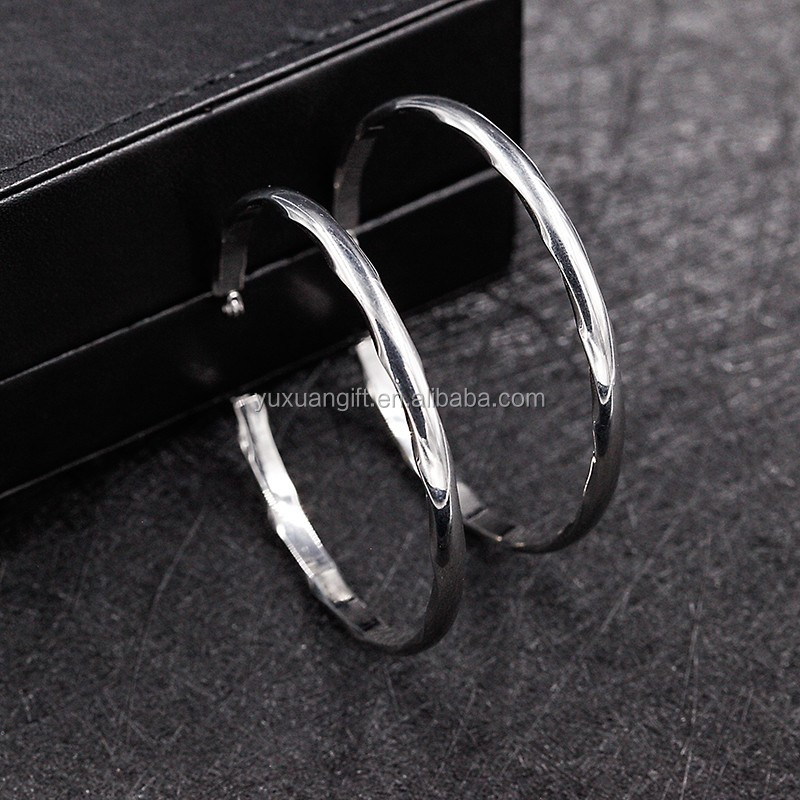 New Latest Fashion Silver Earring Hook Types For Men