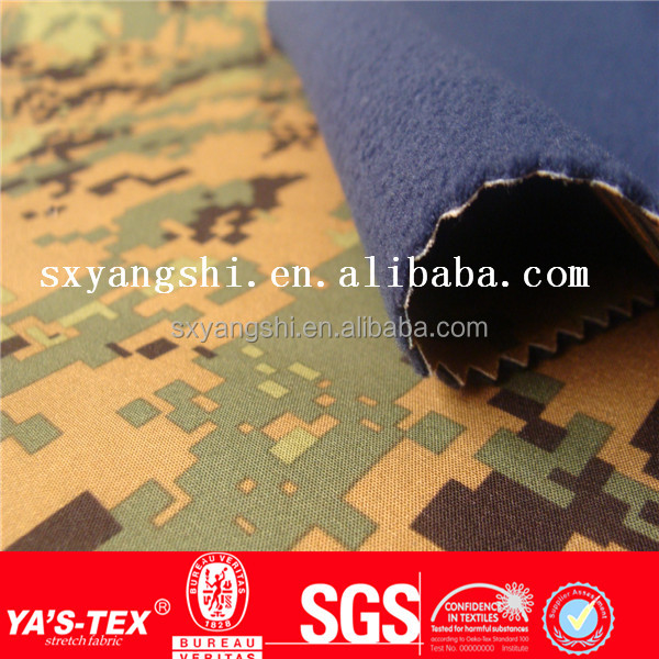 New camouflage print military jacket fabric,waterproof breathable polyester softshell sportswear fabric