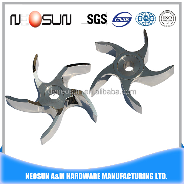 parts of water pump stainless steel impeller