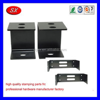customized wall patch panel bracket front bumper mounting brackets,black coating steel sheet metal stamped punchining part