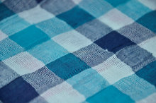 cotton ramie yarn dyed fabric big check, cotton dobby fabric