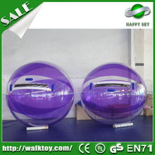 Christmas Outdoor Toys! 0.8mm tpu cheap inflatable water moving ball for sale