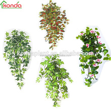 2017 wholesale green artificial plastic ivy fake ivy vines leaf artificial hanging plant
