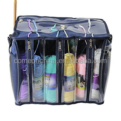Yarn Storage Tote Organizer for Carrying Skeins Knitting Needles